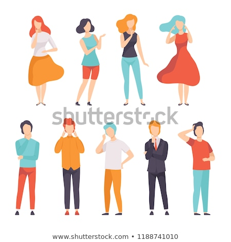 set of dreaming man, businessman and casual Stock photo © studiostoks