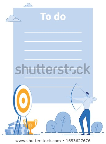 Idea Implementation Target with Arrow, Checklist Stock photo © robuart