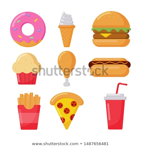 Fast Food Donut and Noodles Vector Illustration Stock photo © robuart