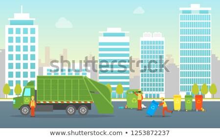 Rubbish in street scene Stock photo © bluering