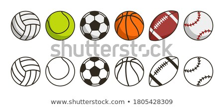 American Football Player Circle Cartoon Collection Set Stock photo © patrimonio