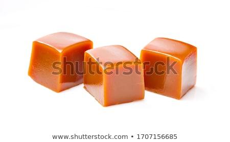 Caramelo cubo ilustração 3d isolado branco cor Foto stock © montego
