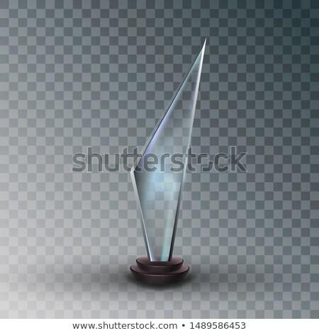 Brilhante vidro troféu prêmio metálico quadro Foto stock © pikepicture