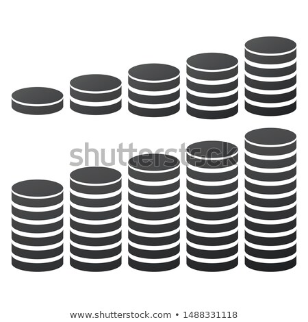 Database Icon, hosting data symbol, money or coin stack. 10 options. Vector illustration isolated on Stock photo © kyryloff