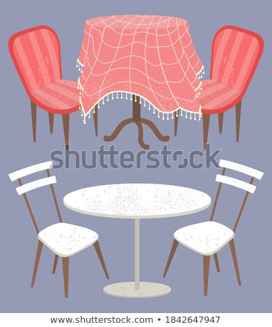 Empty Design of Table with Soft Chairs Vector Stock photo © robuart