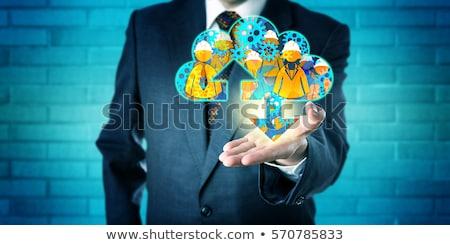 Open hand with cog gears cloud Stock photo © wavebreak_media