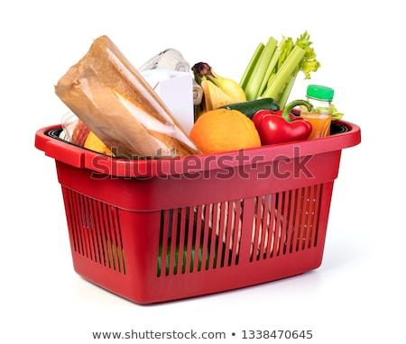 Witte peper mand markt textuur achtergrond Stockfoto © galitskaya