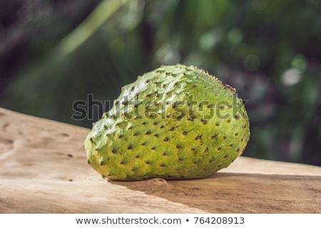 カスタード リンゴ 木板 自然 フルーツ ドリンク ストックフォト © galitskaya