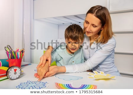 Autizmus beszéd terápia különleges oktatás szóbeli Stock fotó © Lightsource