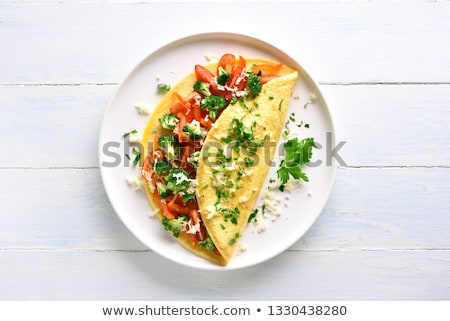 tost · dilim · tost · yeşil · soğan · beyaz - stok fotoğraf © tycoon