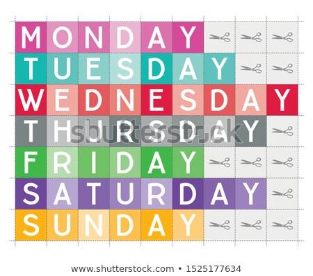 Stock photo: Days of week printable vector teaching aid