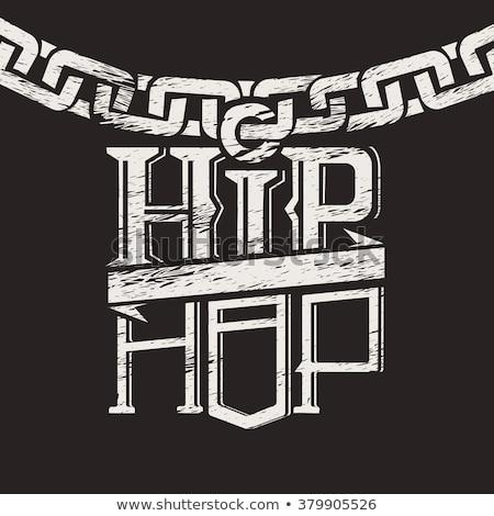 Hiphop zene hip hop énekes mikrofon hangszóró Stock fotó © RAStudio