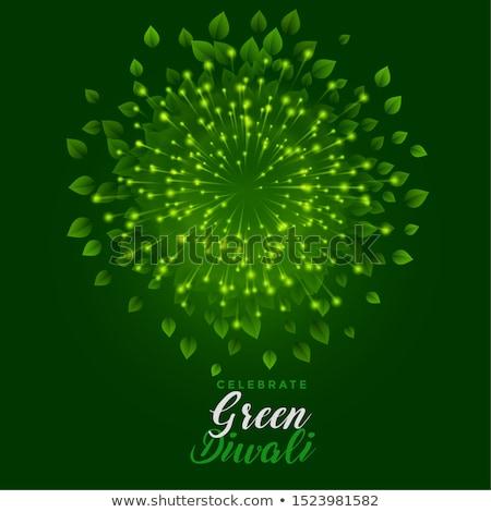 happy green diwali celebration with eco friendly firework Stock photo © SArts