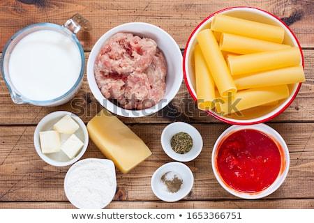 preparing meat stuffed cannelloni Stock photo © nito