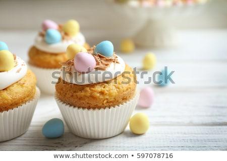 Pascua · decorado · ninos · chocolate · huevo - foto stock © dolgachov