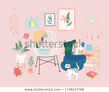 living room place for relax cat on sofa vector stock photo © robuart