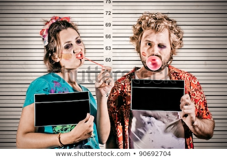 funny thief girl Stock photo © adrenalina