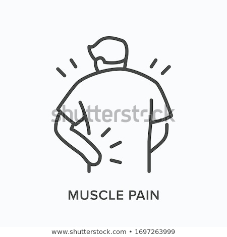 hand ache icon vector outline illustration stock photo © pikepicture