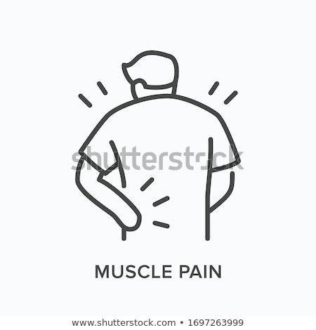 Stock fotó: Kéz · fájdalom · ikon · vektor · skicc · illusztráció