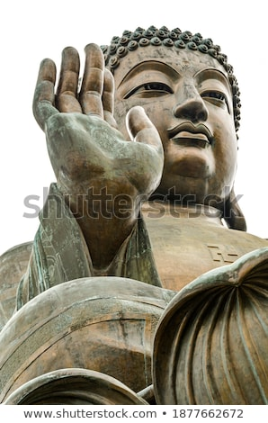 ストックフォト: ビッグ · 僧侶 · 青銅 · 像 · 仏 · 寺