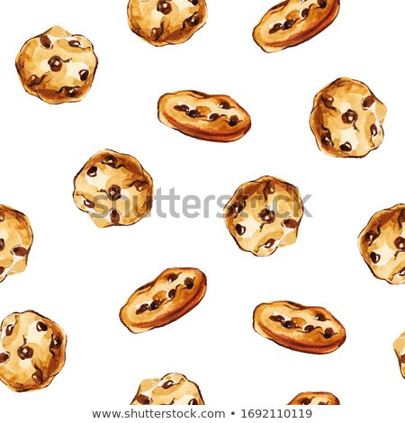 White chocolate biscuit cookies on white background. Stock photo © DenisMArt