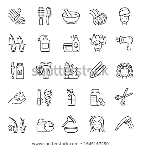 Growing Hair Icon Vector Outline Illustration Stock photo © pikepicture
