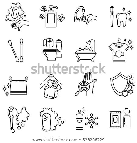 Bactérias mão vetor assinar fino Foto stock © pikepicture