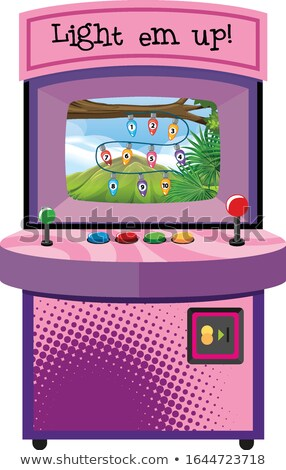 Game machine for counting numbers on isolated background Stock photo © bluering