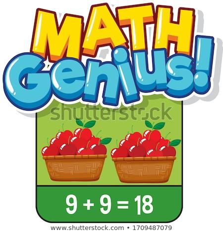 Math design numeri illustrazione frame arte Foto d'archivio © bluering