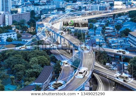Gelecek taşımacılık metropol fütüristik araba trenler Stok fotoğraf © jossdiim