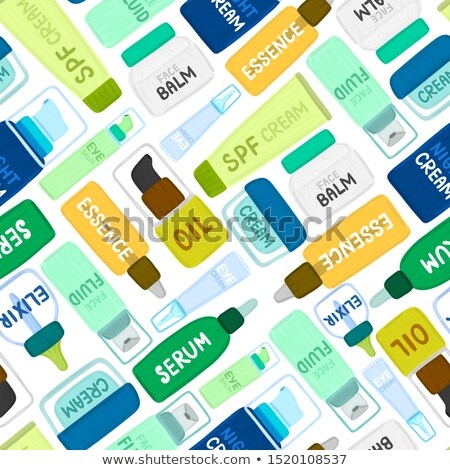 Skin Care Cosmetic Seamless Pattern Vector Stock photo © pikepicture