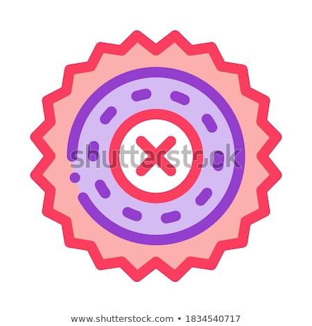 Tilalom ikon vektor skicc illusztráció felirat Stock fotó © pikepicture