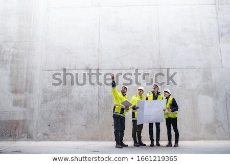 Architect permanente plan jonge Stockfoto © ra2studio
