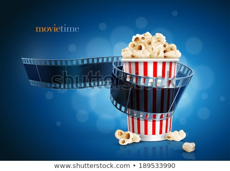 Camera for Filming and Package of Popcorn Vector Stock photo © robuart