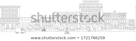 Cityscape with Modern Architecture and Van on Road Stock photo © robuart