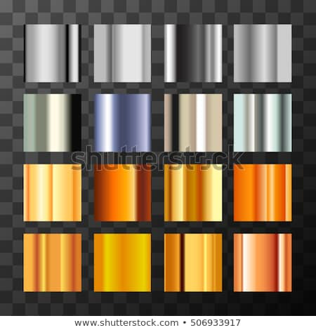 Large set of different metals gradient swatches on transparent background Stock photo © evgeny89