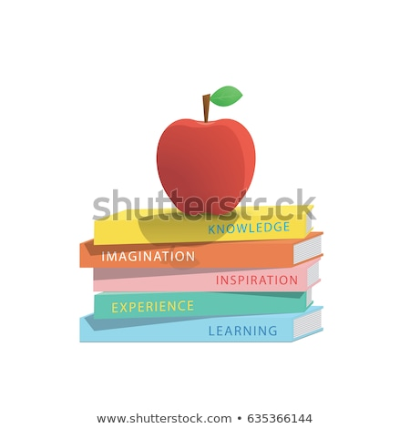 Vector Apple fruit on white background. Learn the red color Stock photo © natali_brill