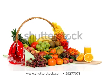 Stock photo: Seasonal varied tropical fruit basket