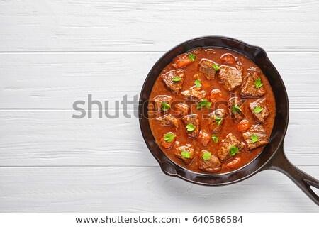Geleneksel güveç et sebze soğan Stok fotoğraf © brebca