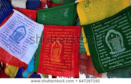 Buddismo preghiera bandiere mantra bandiera Foto d'archivio © dmitry_rukhlenko