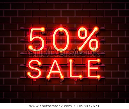 Black Friday. 3d sale banner with text 50 percent Off Black Friday Stock photo © FoxysGraphic