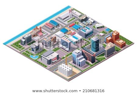 Hangar Building isometric icon vector illustration Stock photo © pikepicture