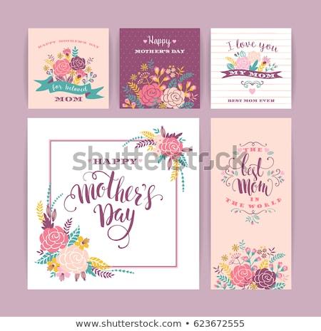 Gül afişler ayarlamak örnek vektör çiçek Stok fotoğraf © yo-yo-