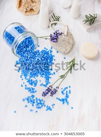 Zöld tenger fürdősó fehér test kék Stock fotó © tetkoren