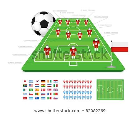labdarúgó · sziluett · szurkolók · grunge · textúra · sport - stock fotó © m_pavlov