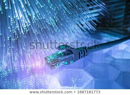 Mavi Internet genişbant router yalıtılmış beyaz Stok fotoğraf © gewoldi