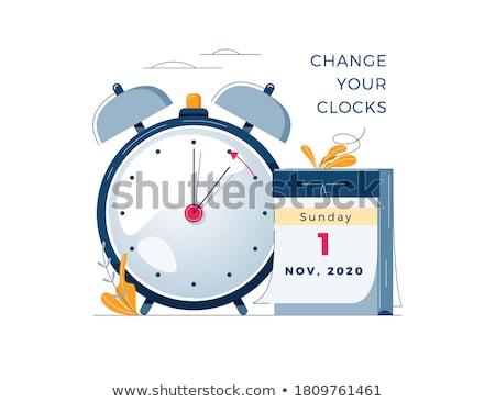 idő · kapcsoló · óra · szavak · fehér · kommunikáció - stock fotó © kbuntu