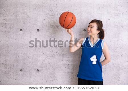 mulher · cesta · bola · belo - foto stock © dash