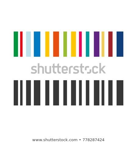 Set of color bar codes Stock photo © orson