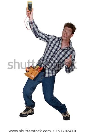 eletricista · masculino · mão · homem · caixa - foto stock © photography33